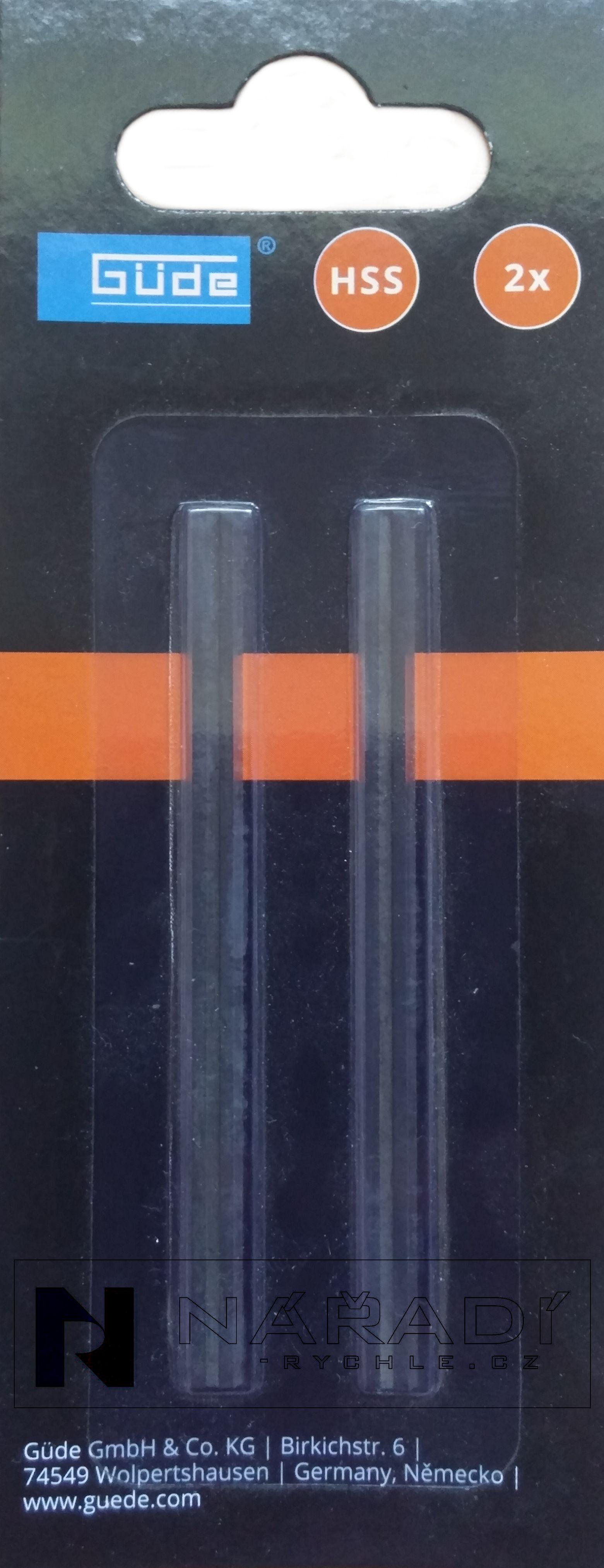 Güde Náhradní hoblovací nože k hoblíku HO 82-850 - 58165