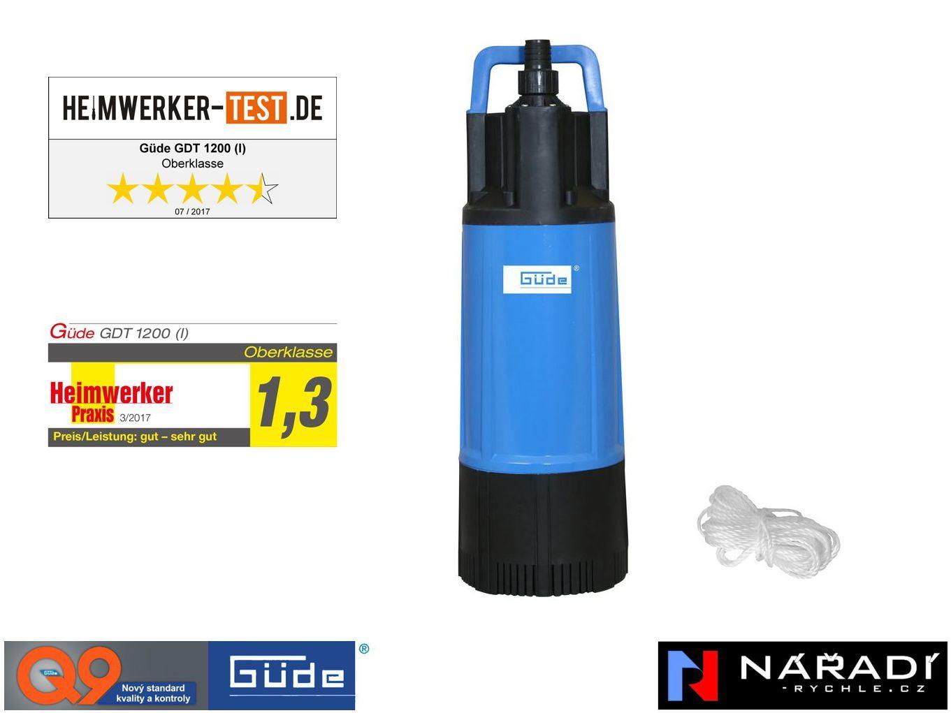 Ponorné tlakové čerpadlo 1200W GDT 1200 GÜDE 94240