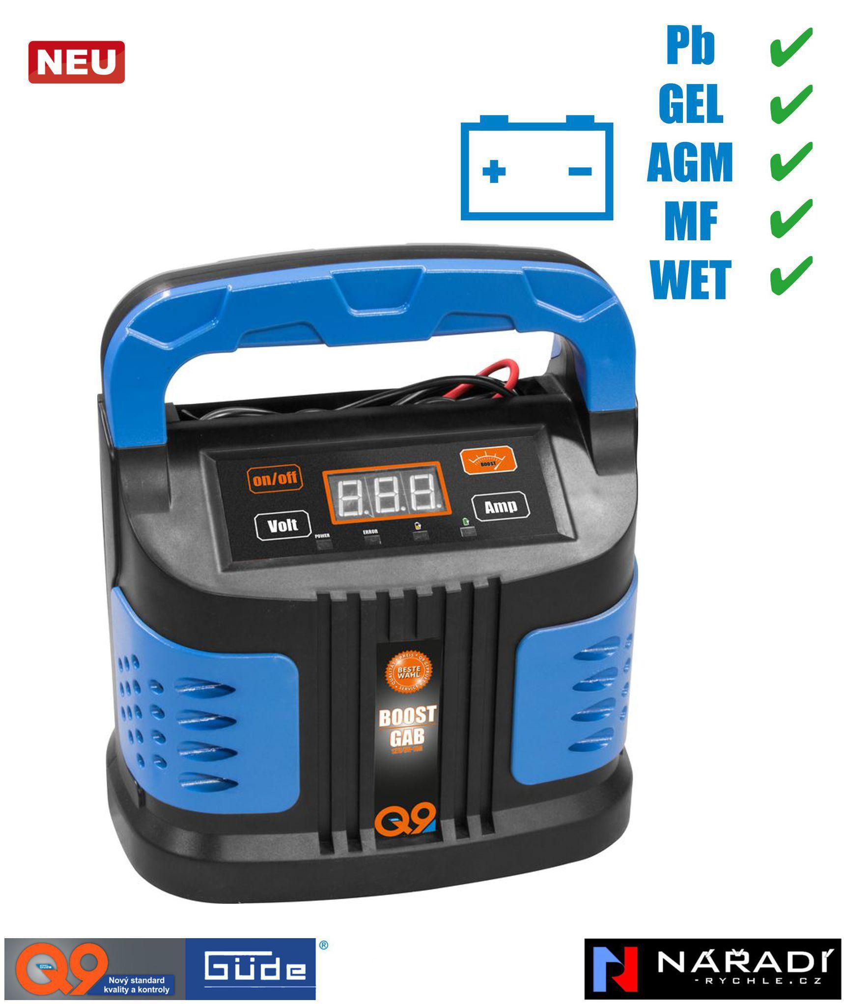 Automatická nabíječka baterií Güde GAB 10 A BOOST - 85142
