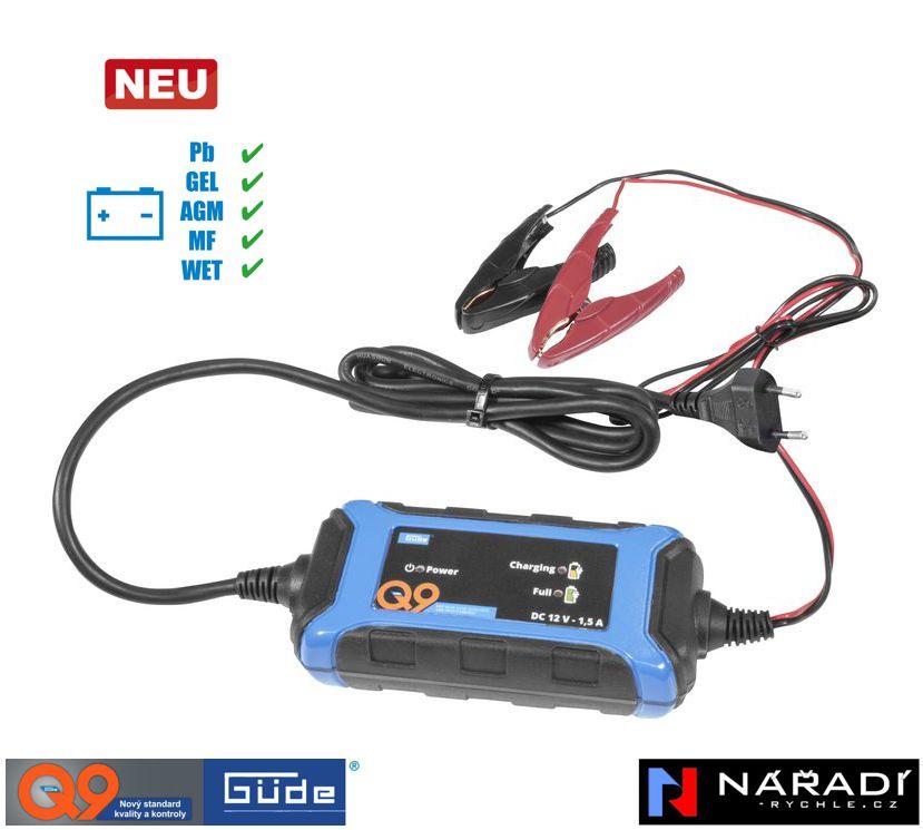 Automatická nabíječka baterií Güde GAB 1,5 A - 85140