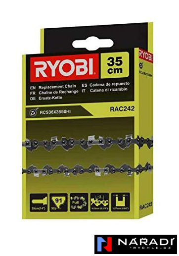 RAC242 RYOBI 35 cm řetěz - řetězová pila RCS36X3550HI