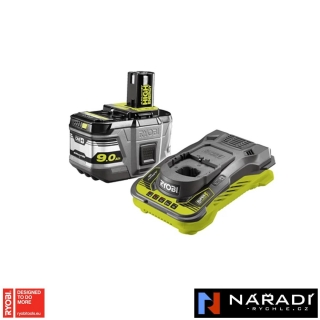 BATTERY PACK 1×9,0 Ah RYOBI RC18150-190, 18V ONE+
