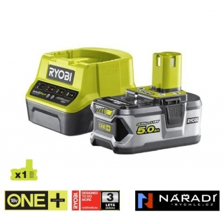 BATTERY PACK 1×5,0 Ah RYOBI RC18120-150, 18V ONE+