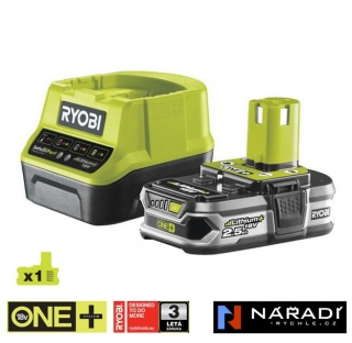 BATTERY PACK 1×2,5 Ah - RYOBI RC18120-125, 18V ONE+