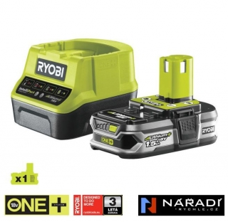 BATTERY PACK 1×1,5 Ah - RYOBI RC18120-115, 18V ONE+
