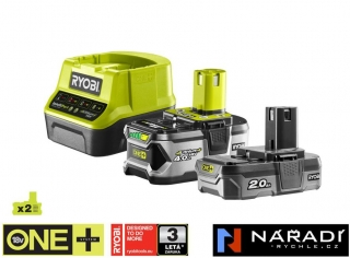 BATTERY PACK 2,0 Ah, 4,0 Ah RYOBI RC18120-242, 18V ONE+