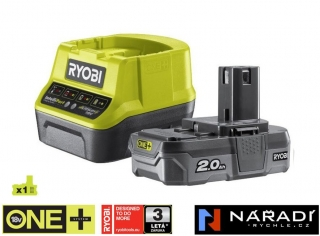 BATTERY PACK 1×2,0 Ah - RYOBI RC18120-120, 18V ONE+
